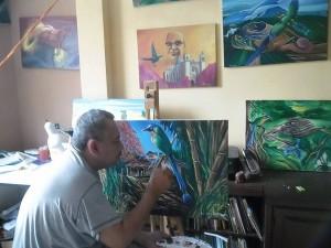 Eli pintando