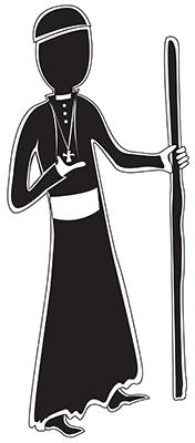 Personaje representando a Monseñor Romero