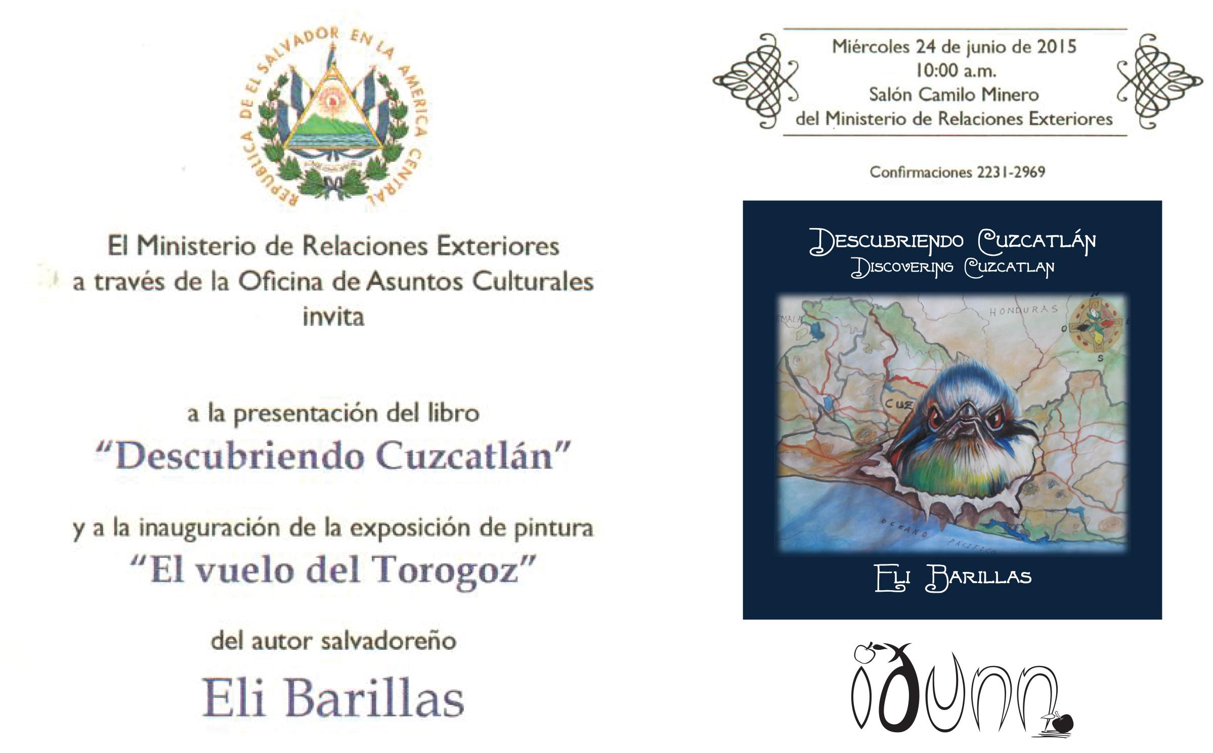 Invitación a presentación de libro y exposición