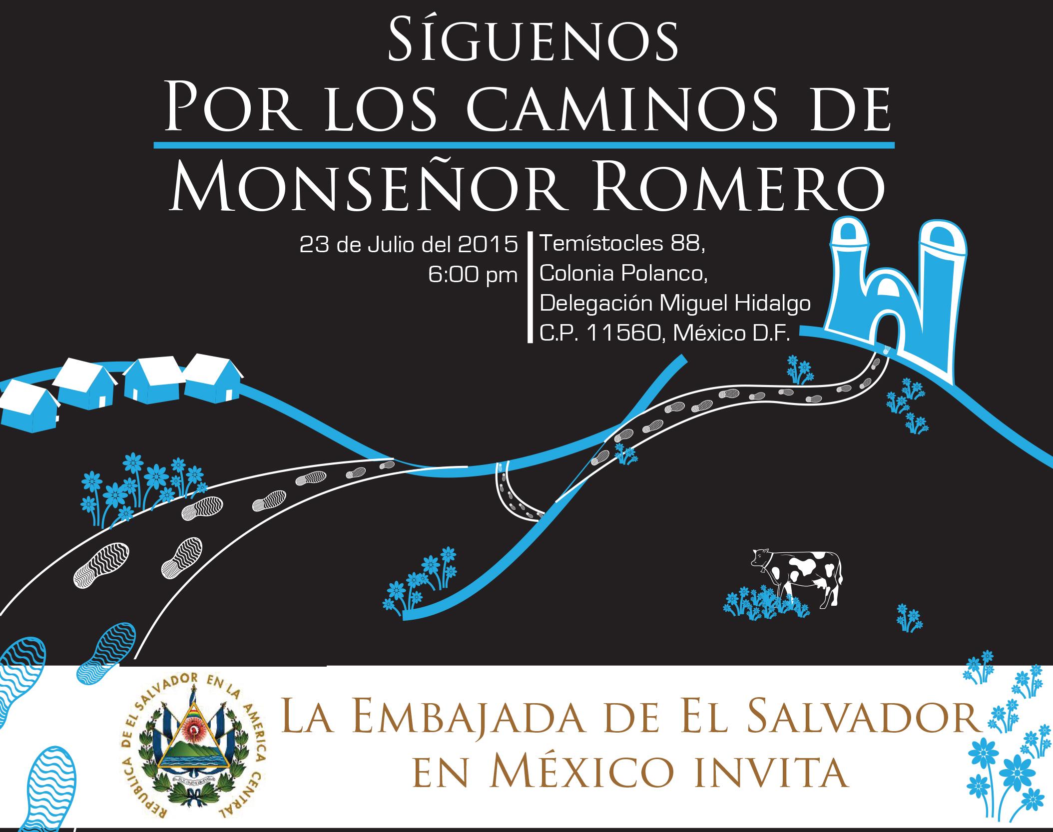 presentación del libroPor los Caminos de Monseñor Romero