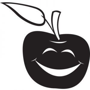 Manzana contenta