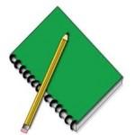 libreta y lápiz